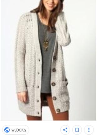 Теплый вязаный кардиган кофта свитер