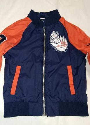 Куртка ветровка hm 1.5-2 г. 92 см  подкладка котон