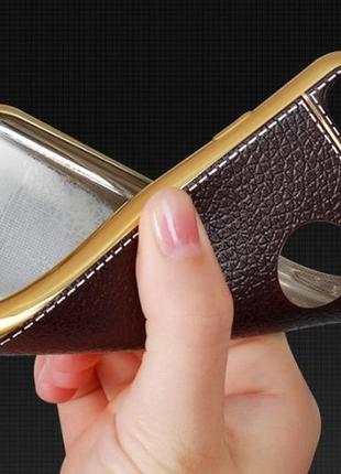 Силиконовый чехол с имитацией кожи для iphone 5 5s 5se 6 6s