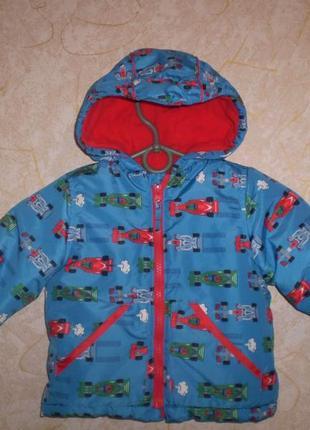 Демисезонная куртка курточка mini club 9-12 мес 74-80 ( будет дольше )