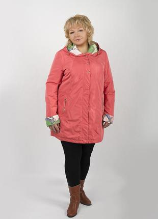 Демисезонная куртка, плащ astrid больших размеров,батал с капюшоном 48, 50, 52, 54, 56, 58