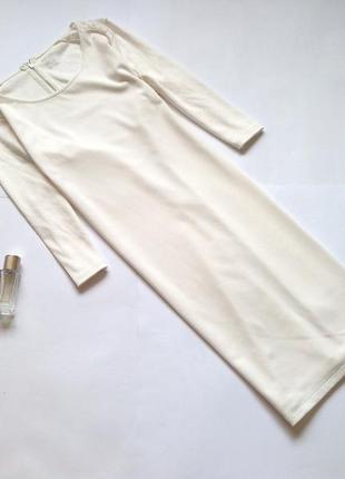 Белое трикотажное прямое платье оверсайз. смотрите мои объявления!