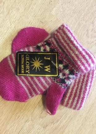 Теплі рукавички на 5-7 рочків
