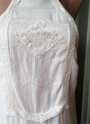 Платье с вышивкой сарафан с вышивкой цвет айвори
