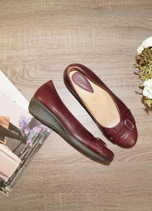 Ecco! кожа! комфортные качественные туфли на низком ходу