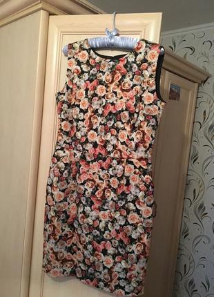 Платье reserved, цветочный принт