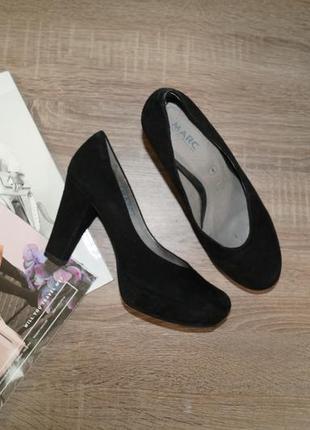 Marc! замша/кожа! красивые классические туфли