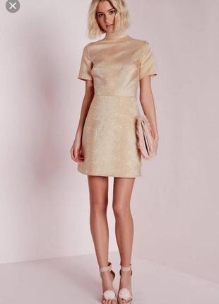 Супер красивое  блестящее платье мини