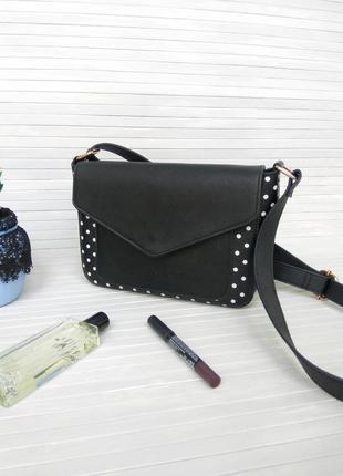 Фактурная сумка cross-body из эко-кожи sinsay клатч на длинной ручке кроссбоди