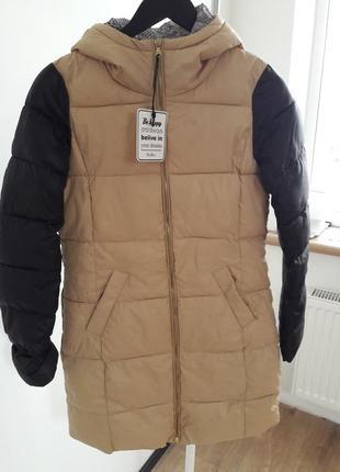 Куртка с контрастными рукавами