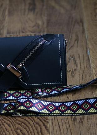 Стильный черный клатч-сумочка из экокожи с молнией!3