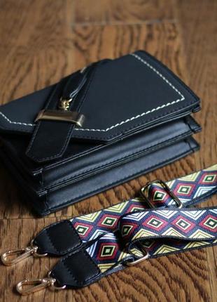 Стильный черный клатч-сумочка из экокожи с молнией!4