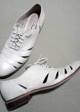 Туфли clarks, кожа