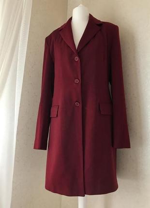 Длинный бордовый итальянский пиджак тренч вишневый kitana