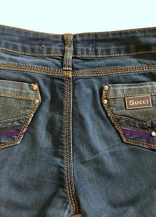 Суперские темно-синие джинсы от gucci3 фото