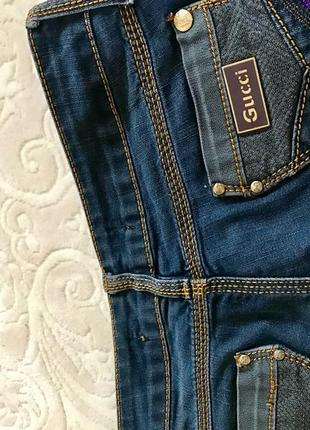 Суперские темно-синие джинсы от gucci4 фото