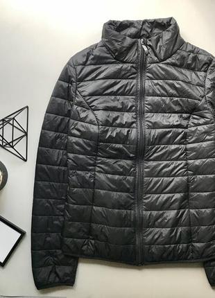 Легкая демисезонная черная куртка дутик / курточка ветровка