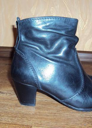 Ботиночки ботильёны tamaris кожа