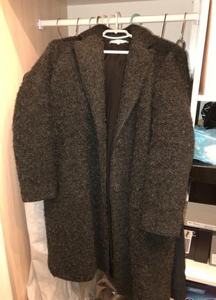 Пальто zara натуральная шерсть