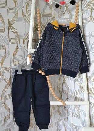 Утеплённый спортивный костюм на мальчика 3 года