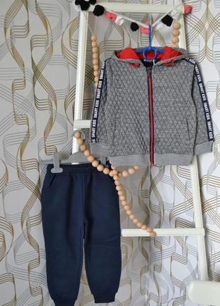 Утеплённый спортивный костюм на мальчика 5 лет