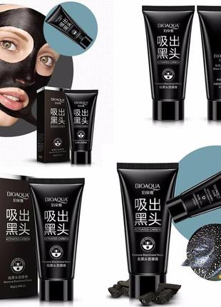 Очищающая маска пленка bioaqua черная 60 г от черных точек, акне, расширенных пор