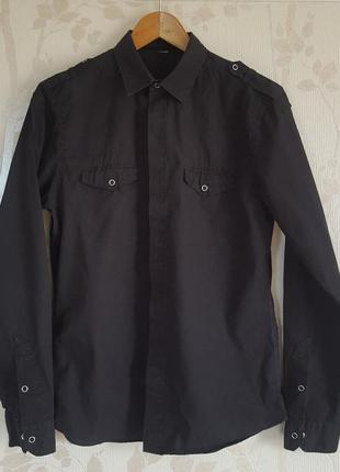 Черная стильная рубашка asos
