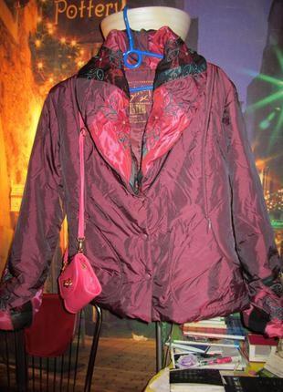 Шикарная куртка с вышивкой от французского бренда rene derhy 14(42)xl