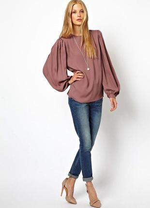 Блуза с широкими рукавами asos,р-р 6