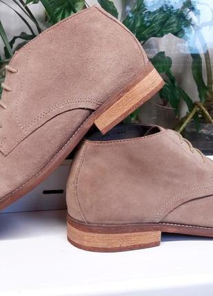 """Мягкие замшевые легкие ботинки """" new look """"! англия! 44 р."""