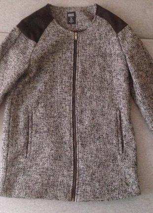 Крутое твидовое пальто