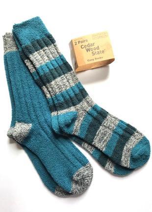 Комплект 2 пары. тёплые, мягкие, гипоалиргенные мужские носки травка, велсофт, primark®