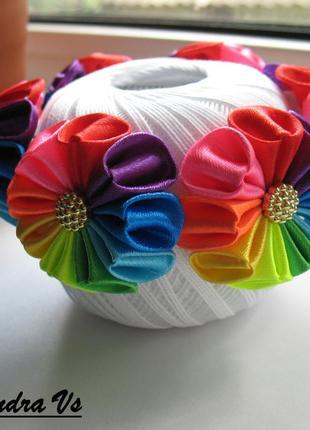 Резинка на гульку радуга