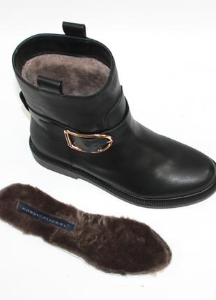 Зимние ботинки modus vivеndi оригинал. натуральная кожа. цигейка. 36-40