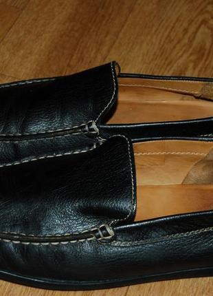 Кожаные туфли мокасины 43 р geox