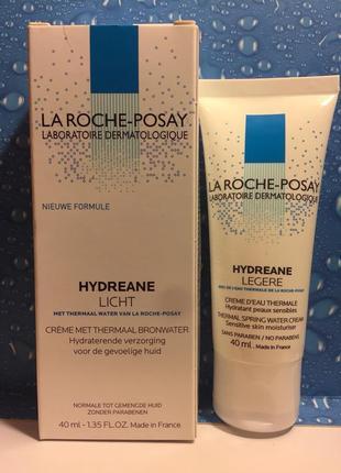 Увлажняющий крем для нормальной, комбинированной кожи la roche-posay hydreane legere 40 мл
