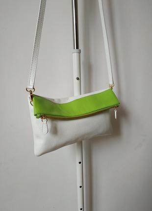 Кожаная сумочка через плечо algifor