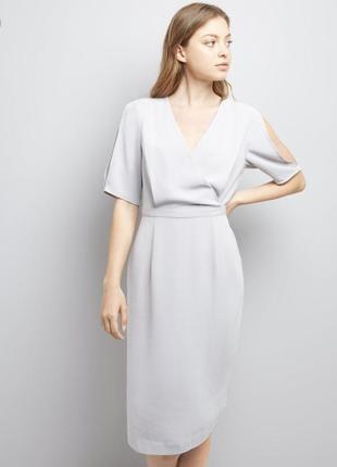 Платье серое new look