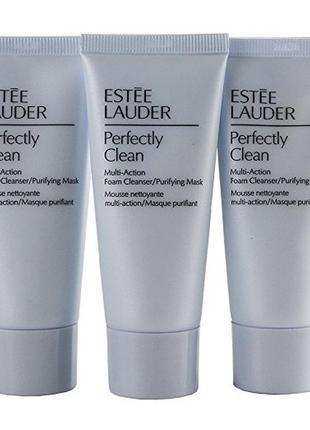 Пенка для умывания и очищающая маска 2 в 1 perfectly clean от estee lauder