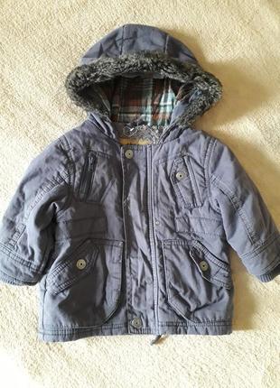 Классная куртка, парка , подклад мохра.
