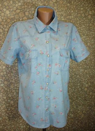 "Джинсовая рубашка  "" franco callegari""  12-14 р   индонезия"