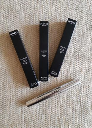 Тушь для ресниц kiko longeyes plus active mascara