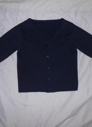 Marks&spencer темно-синяя школьная кофта кардиган, на 9-10 лет, р. 140
