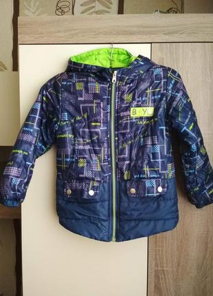 Куртка курточка демисезонная на флисе на мальчика 5 лет