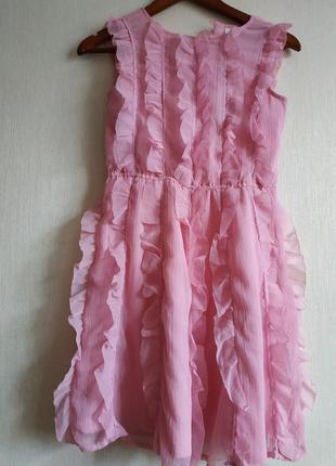 Зефирное платье с рюшами next