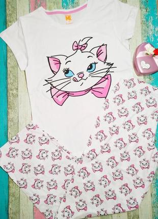 """Пижама женская """"котик"""" одежда для дома штаны футболка"""