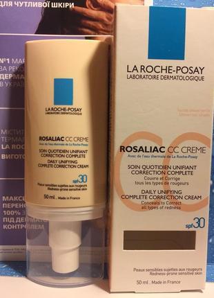 Cc-крем для кожи с покраснениями и розацеа la roche-posay rosaliac cc cream spf 30