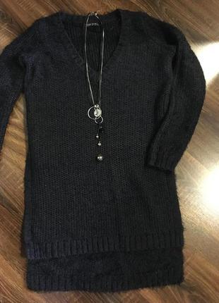 Супер тёплый свитер удлинённый