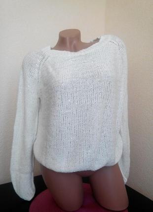 Праздничный свитер с редкой блистинкой