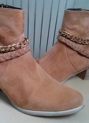 Spm, 39 р. замшевые стильные демисезонные ботинки